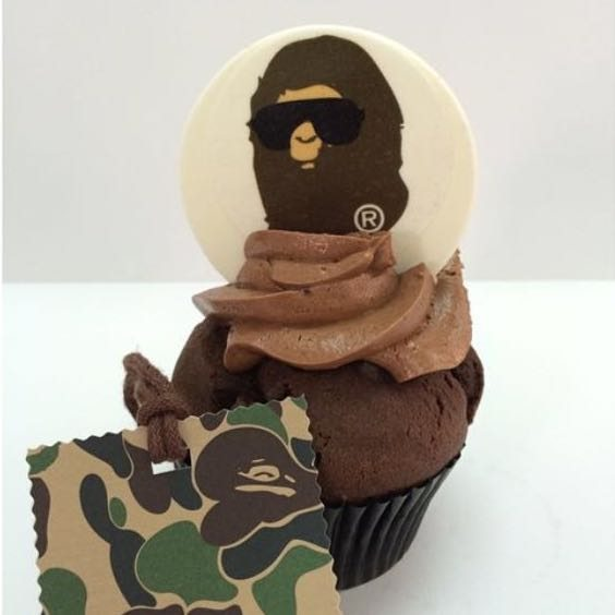 Bathing Ape Eyewear event decorated cupcake by BRICK LANE Sweets