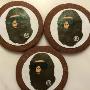 Bathing Ape cookies by BRICK LANE Sweets
