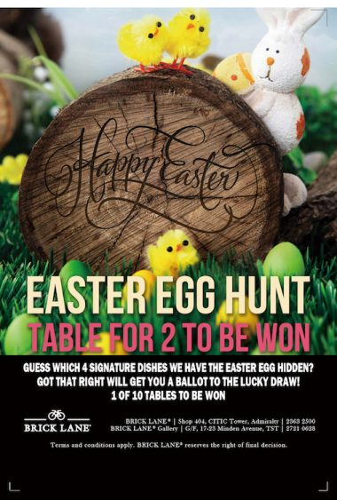 BRICK LANE Easter Egg Hunt - Table for Two to be Won