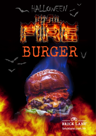 Flaming Halloween Burger