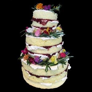 Naked Wedding Cake by BRICK LANE Sweets