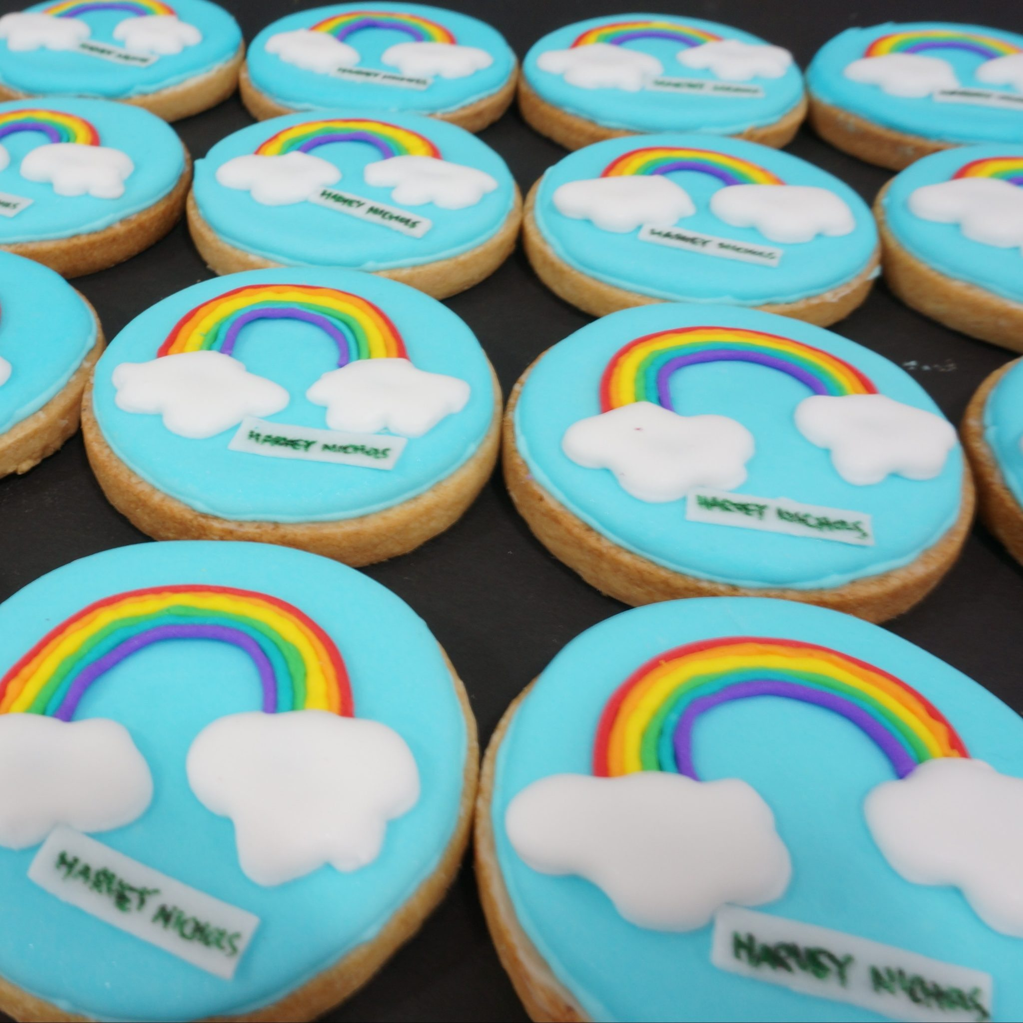 Decorated Cookies by BRICK LANE Sweets rainbow