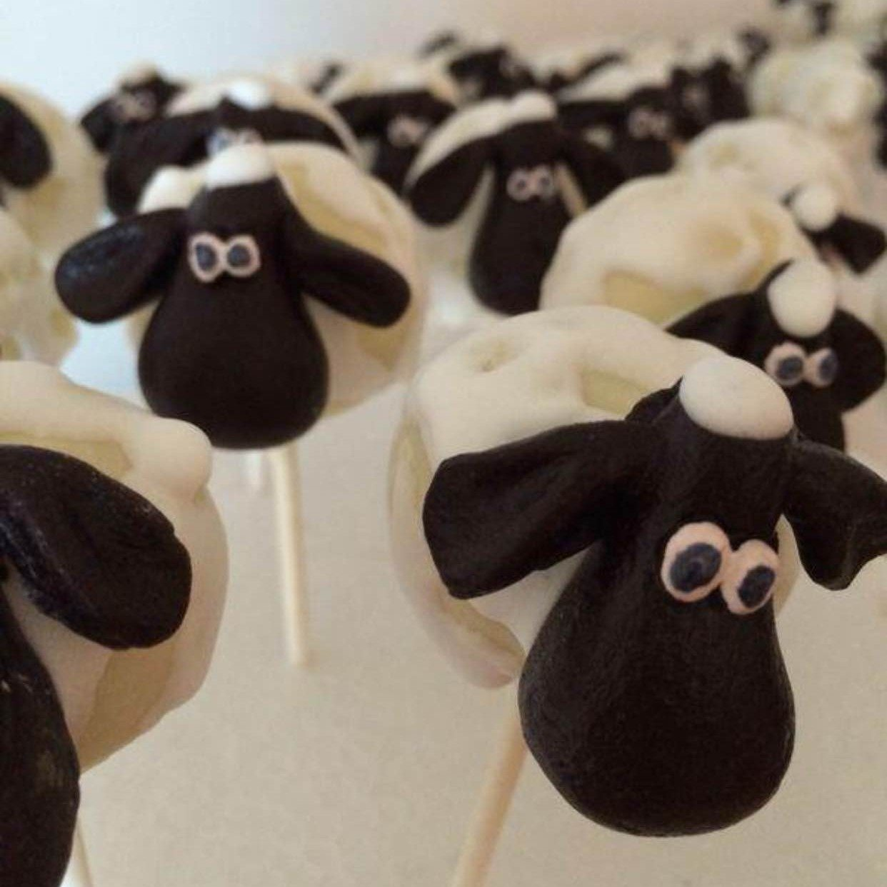 sheep cake pop by BRICK LANE Sweets